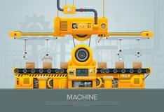 机器和制造机械工厂传染媒介 库存照片