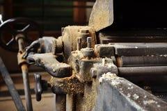 机器在细木工技术方面 免版税库存图片