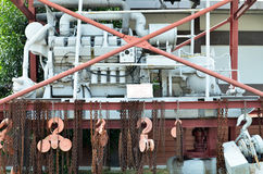 机器在Kinta罐子采矿博物馆在Kampar,马来西亚 库存图片