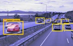 机器学习和AI辨认对象技术,人工智能概念 图象处理,公认 免版税图库摄影