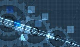 机器技术齿轮 减速火箭的大齿轮机制bacground 免版税库存图片