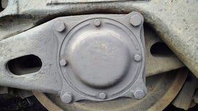 机器的一个圆铁零件 背景美好的设计例证向量 库存图片