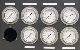 机器的测量有七台仪器的 图库摄影