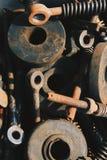 机器铁锈的小块 免版税库存照片