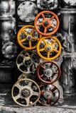 机器阀门的备件 库存图片