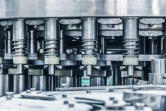 机器,饮料生产设备的细节 免版税库存图片