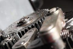 机器细节有齿轮的 免版税库存图片