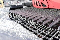 机器细节滑雪的倾斜准备的 免版税库存图片