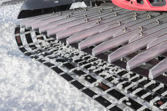 机器细节滑雪的倾斜准备的 库存照片
