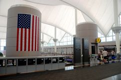 机场丹佛内部国际 免版税库存照片