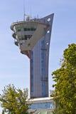 机场交通控制塔 免版税图库摄影