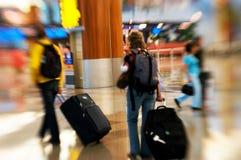 机场仓促 免版税图库摄影