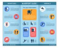 机场企业Infographic小册子 皇族释放例证