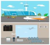 机场传染媒介 免版税库存图片