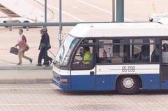 机场公共汽车,澳门 免版税库存照片