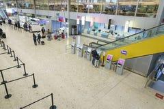 机场内部在日内瓦 免版税库存图片