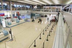 机场内部在日内瓦 免版税库存照片