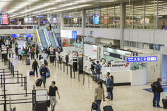 机场内部在日内瓦 图库摄影