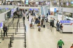 机场内部在日内瓦 免版税图库摄影