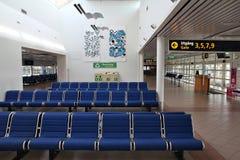 机场内部在马尔摩 免版税库存照片