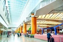 机场内部,新加坡 免版税库存照片
