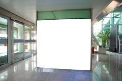 机场出口玻璃墙走廊墙壁lightboxes 库存图片
