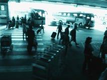 机场北京繁忙的外部 免版税库存图片