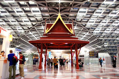 机场区装饰suvarnabhumi 免版税库存图片