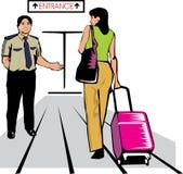 机场卫兵 免版税图库摄影