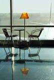 机场咖啡馆 免版税库存图片