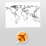 机场咖啡 免版税库存照片