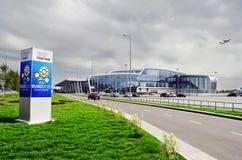 机场国际lviv 库存图片