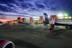 机场国际sheremetyevo 免版税图库摄影