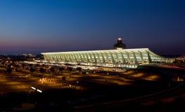 机场在华盛顿附近的黎明dc杜勒斯 库存图片