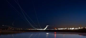 机场夜间时数仓促 免版税库存照片