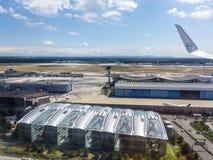 机场天线在法兰克福德国 免版税库存图片