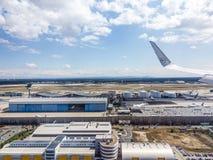机场天线在法兰克福德国 库存图片