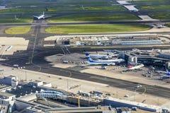 机场天线在法兰克福 免版税库存图片