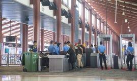机场安全检查站在雅加达 免版税库存照片