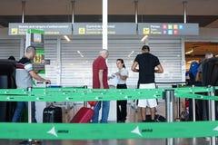 机场安全线 免版税图库摄影