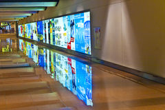 机场早期的空的早晨 免版税库存图片