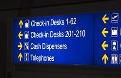 机场标志 图库摄影