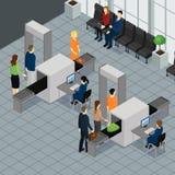 机场概念的等量人 免版税库存图片