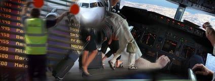 机场气氛 免版税库存照片