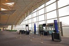 机场洪内部国际kong 库存照片