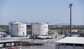 机场燃料贮存 库存图片