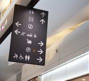 机场牌 免版税库存照片