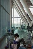 机场等待的休息室 库存照片