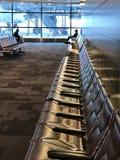 机场等待的区域 免版税库存图片