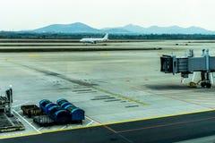 机场简易机场飞机 免版税库存照片